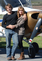 Pilot Bruce Francisco with wife Kelly